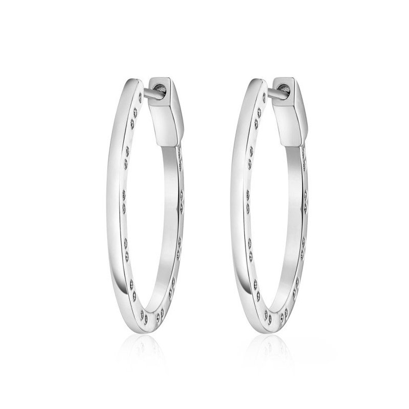 LARUS Jewelry Horseshoe Design Hoop Earrings