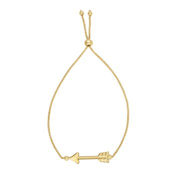 14K Gold Arrow Friendship Bracelet