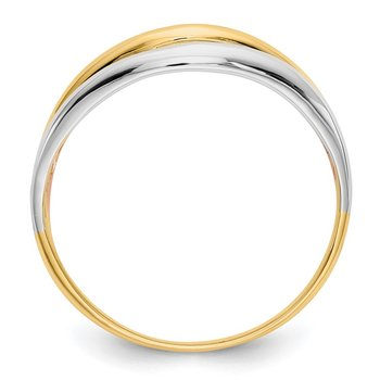 14K Tri-Color Open Fancy Ring
