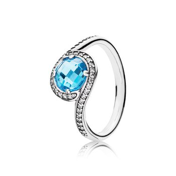 Radiant Embellishment, Sky-Blue Crystal Clear Cz