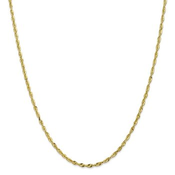 Leslie's 10K 2.5mm Diamond Cut Lightweight Rope Chain