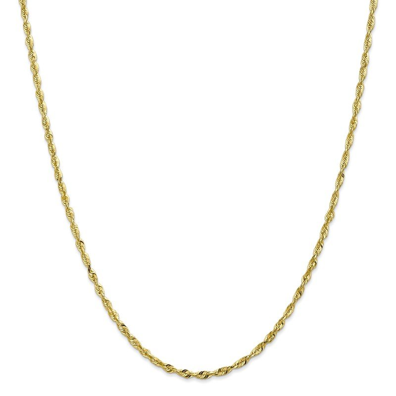 Leslie's Leslie's 10K 2.5mm Diamond-Cut Lightweight Rope Chain