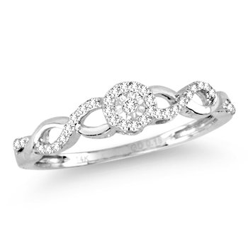 14K   0.16Ct  Diamond  Ring