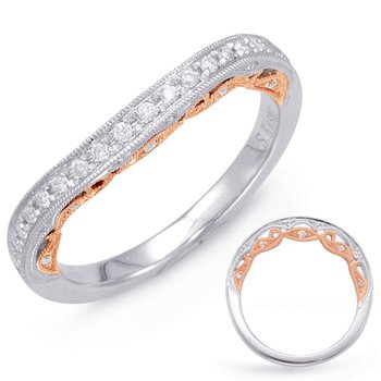 Rose & White Gold Wedding Band