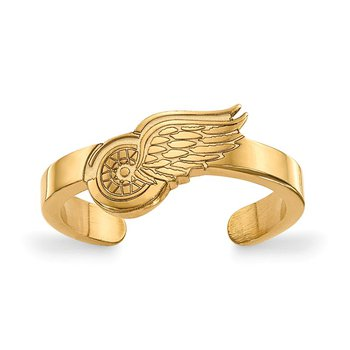 Gold-Plated Sterling Silver Detroit Red Wings NHL Ring