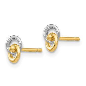14k & Rhodium Love Knot Ear