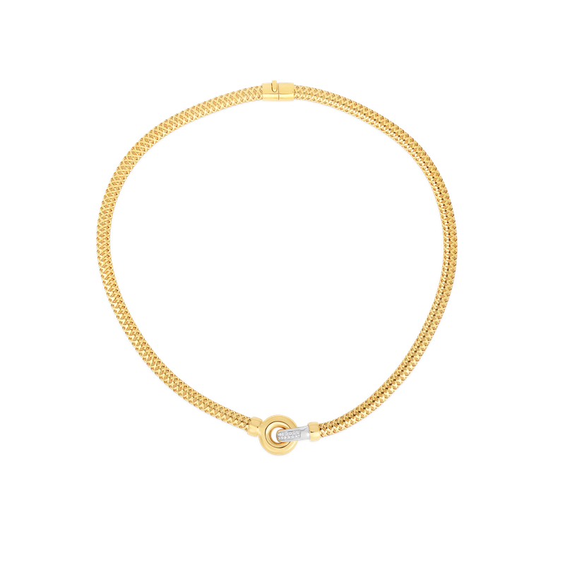 Roberto Coin 18Kt Gold Collar With Diamonds