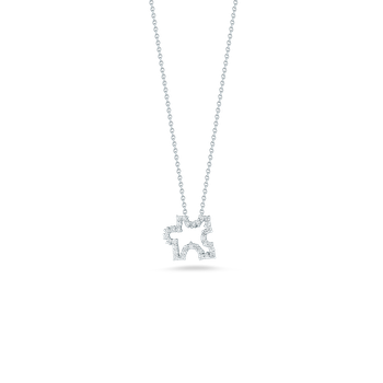18Kt Gold Puzzle Pendant With Diamonds