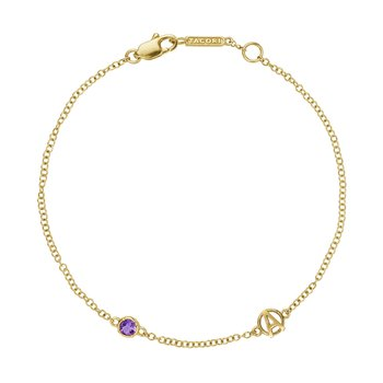 The Gemstone & Monogram Bracelet w/ Amethyst