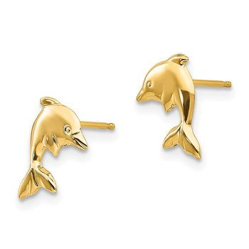 14k Madi K Dolphin Earrings