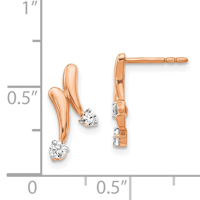 Fine Jewelry by JBD 14k Rose Gold Diamond Earrings