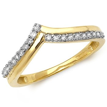 Diamond Set Wishbone