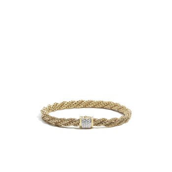 Classic Chain Small Flat Twisted Chain Bracelet