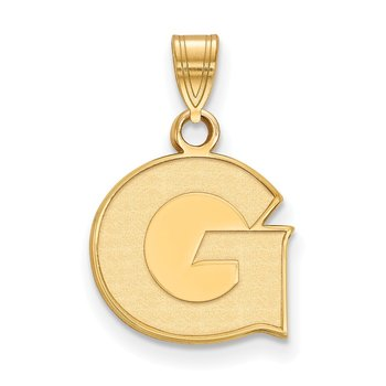 Gold-Plated Sterling Silver Georgetown University NCAA Pendant