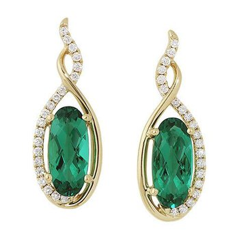 Emerald Earrings-CE3086YEM