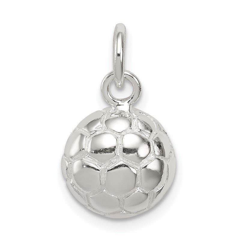 JC Sipe Essentials Sterling Silver Soccer Ball Charm