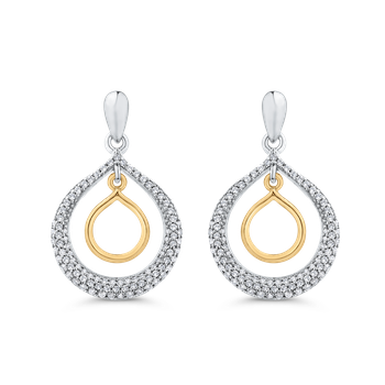 Round Cut Diamond Drop Dangle Earrings