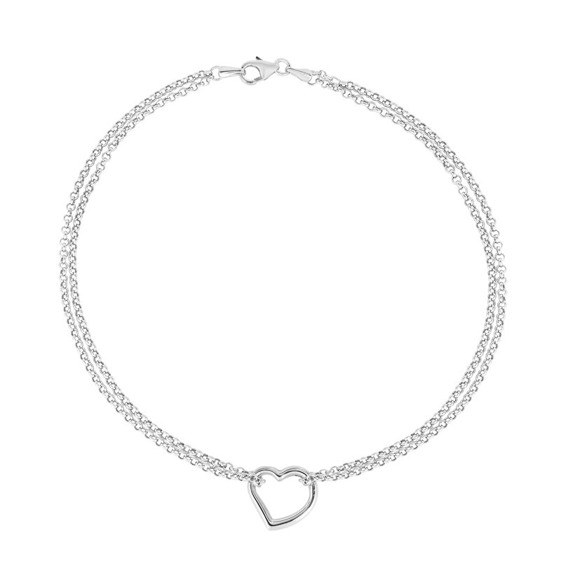 Royal Chain 14K Gold Open Heart Anklet