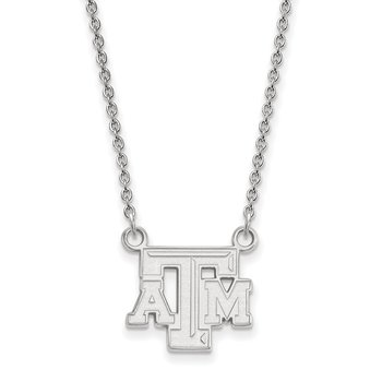 Sterling Silver Texas A&M University NCAA Necklace