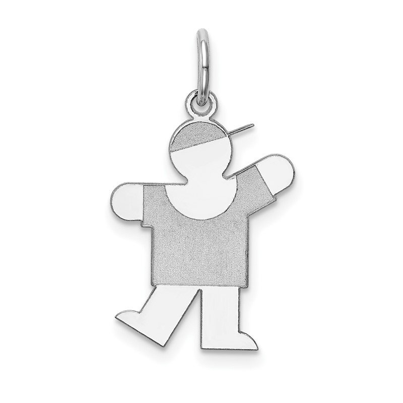 Quality Gold 14k White Gold Kid Charm