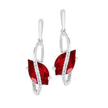 Ruby Earrings-CE4296WRU