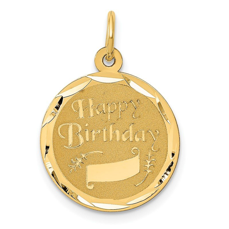 Lester Martin Online Collection 14K HAPPY BIRTHDAY Charm