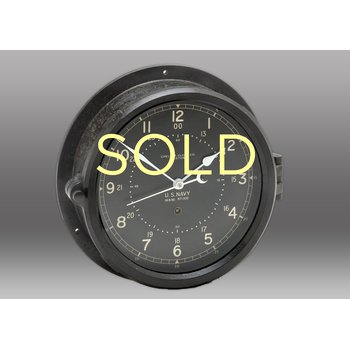 "8 1/2"" Marine Black Phenolic Chelsea Clock, 1943"
