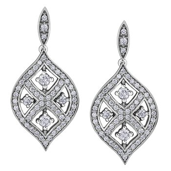 Maple Leaf Diamond Earrings