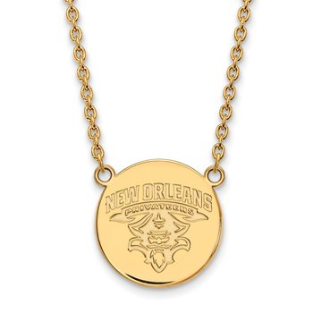 Gold-Plated Sterling Silver University of New Orleans NCAA Pendant