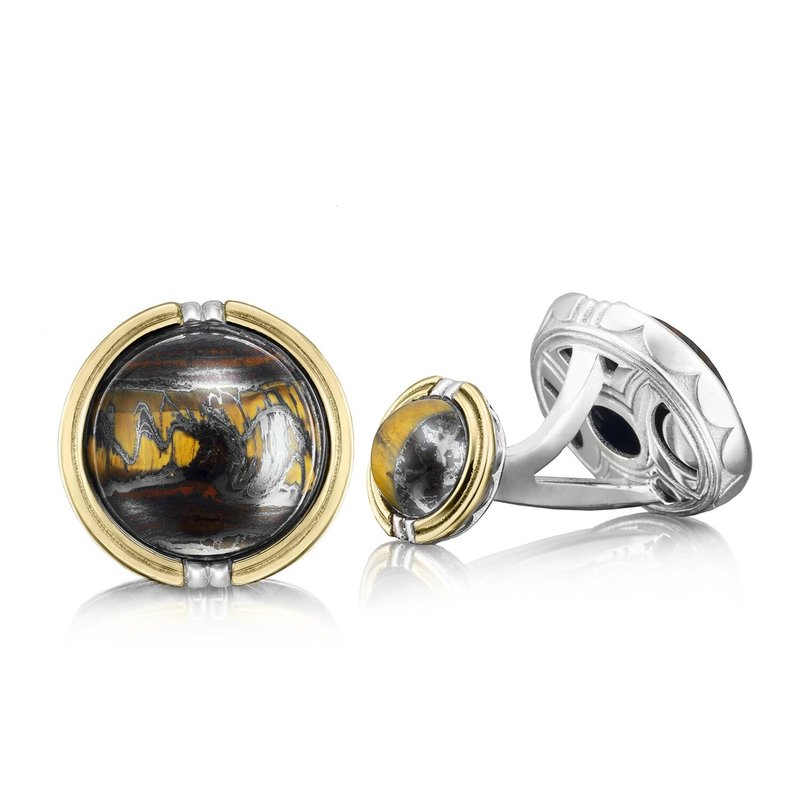 Tacori Fashion Cabochon Cuff Links featuring Tiger Iron