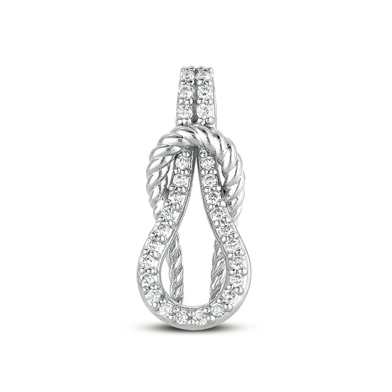 S. Kashi  & Sons White Gold Rope Love Knot Charm