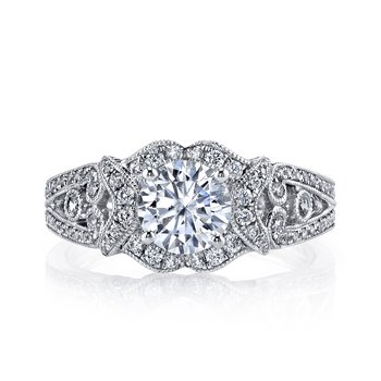 MARS 26021 Diamond Engagement Ring, 0.64 Ctw.