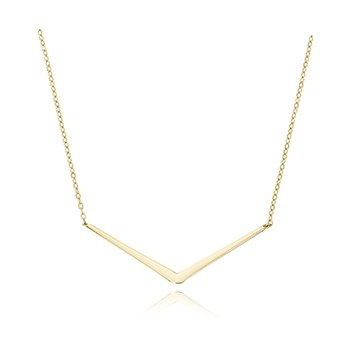 "Straight Edge ""V"" Necklace"