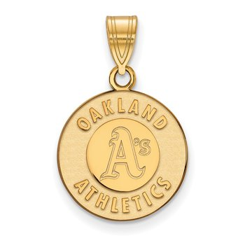 Gold-Plated Sterling Silver Oakland Athletics MLB Pendant