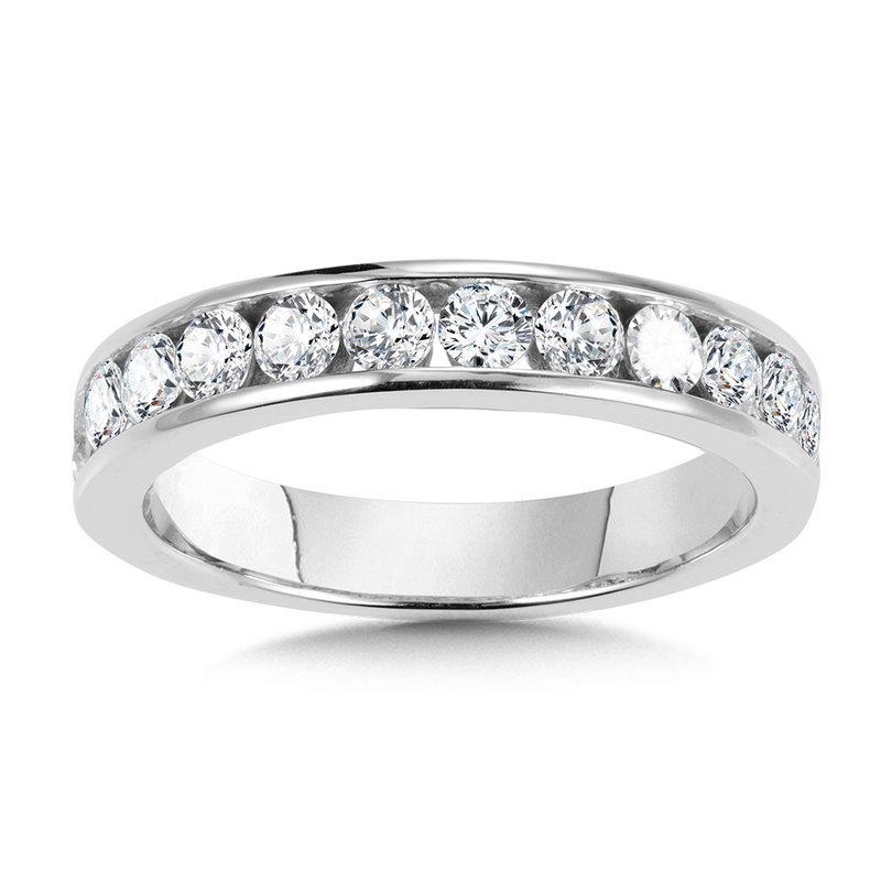SDC Creations Channel-Set Diamond Wedding Band