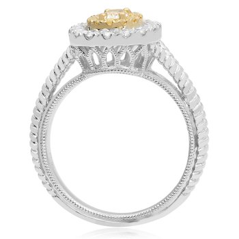 Oval Braided Diamond Ring