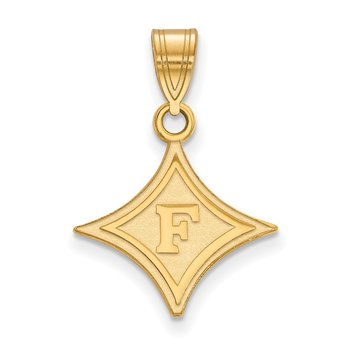 Gold-Plated Sterling Silver Furman University NCAA Pendant