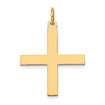 14K Laser Designed Greek Cross Pendant