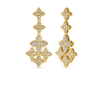 18KT GOLD CHANDELIER EARRINGS WITH DIAMONDS
