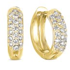 S. Kashi  & Sons Yellow Gold Pave Earring