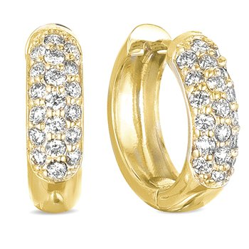 Yellow Gold Pave Earring