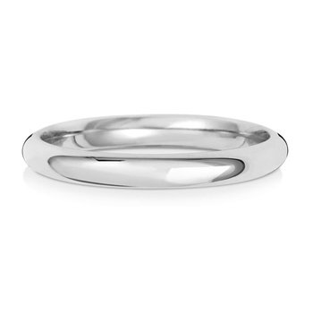 Platinum 2.5mm Traditional Court Wedding Ring