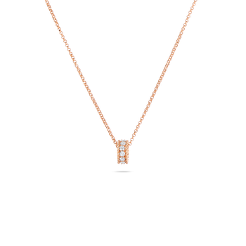 Princess Rondel Pendant With Diamonds &Ndash; 18K Rose Gold