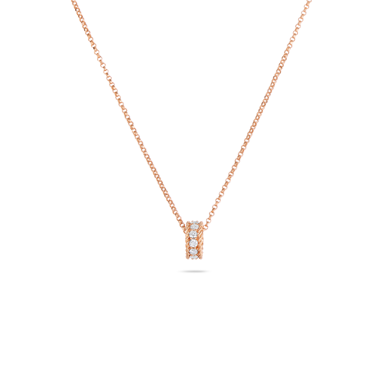 Roberto Coin Princess Rondel Pendant With Diamonds &Ndash; 18K Rose Gold