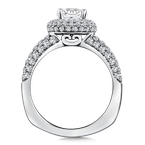 Valina Diamond Halo Engagement Ring Mounting in 14K White Gold (1.08 ct. tw.)