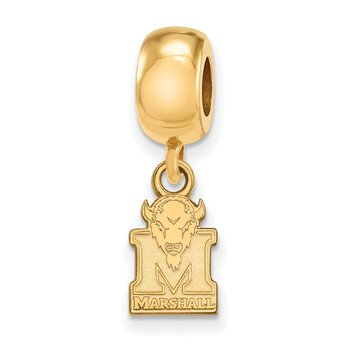 Gold-Plated Sterling Silver Marshall University NCAA Bead