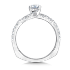 Valina Bridals Mounting with side stones .32 ct. tw., 1/2 ct. round center.