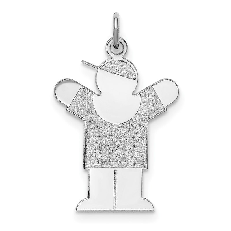 Quality Gold Sterling Silver Rhodium-plated Love Kid Charm