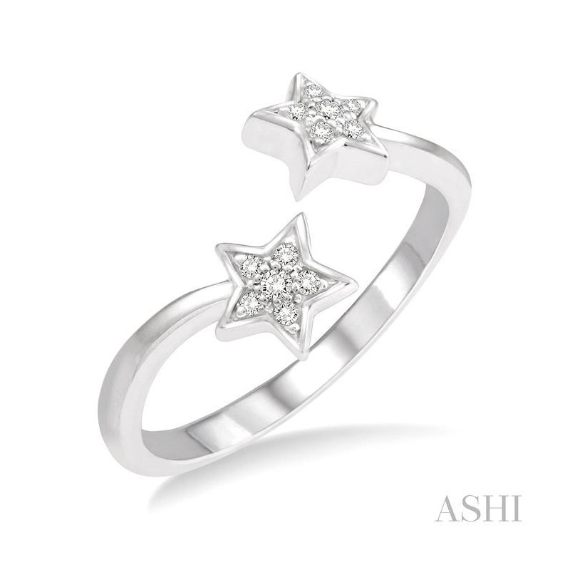 ASHI twin star diamond ring