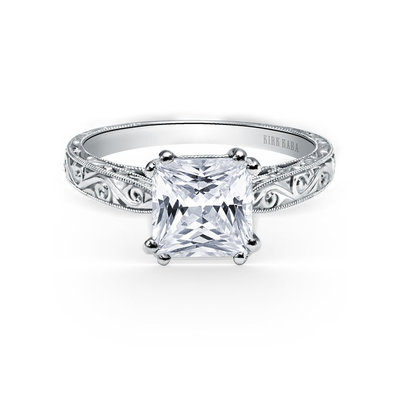 Kirk Kara Engraved Vintage Engagement Ring